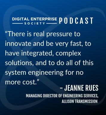 Digital Enterprise Society Podcast with ConX19 Speaker Jeanne Rues from Allison Transmission