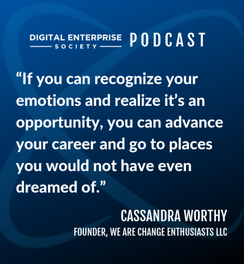 Digital Enterprise Society Podcast with ConX19 Keynote Speaker Cassandra Worthy